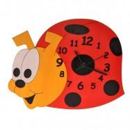 Drewniany zegar dziecięcy - Biedronka