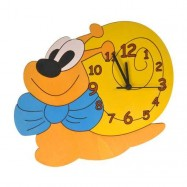 Dětské dřevěné hodiny - Šnek
