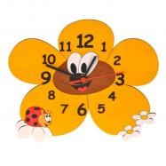 Dětské dřevěné hodiny - Kopretina
