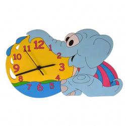 Detské drevené hodiny - Sloníča