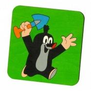 Krteček skládací obrázek puzzle - Krteček s lopatkou 8 dílků