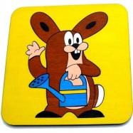 Krteček skládací obrázek puzzle - Zajíc - 12 dílků