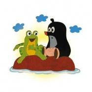 Lampka ścienna dla dzieci - Krecik i żabka