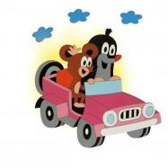 Lampka ścienna dla dzieci - Krecik w samochodzie