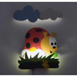 Detská LED lampička - Lienka