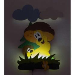 LED Lampka ścienna dla dzieci - Grzybek