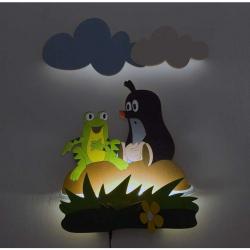 LED Lampka ścienna dla dzieci - Grecik i żabka