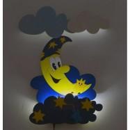 LED Lampka ścienna dla dzieci - Księżyc