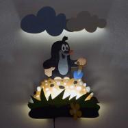 LED Lampka ścienna dla dzieci - Krecik na kopeczku