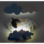 Detská LED lampička - Krtko v perinke