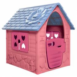 Domček s kytičkou ružový