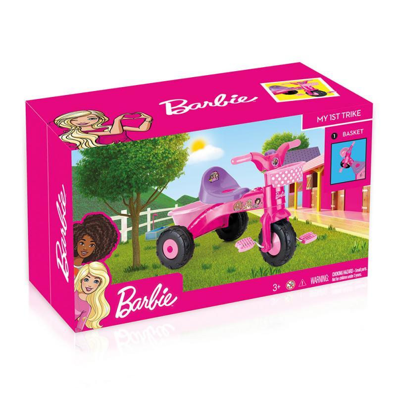Moja prvá trojkolka Barbie