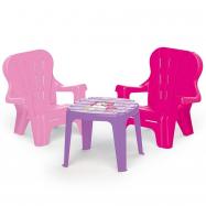 Dětský zahradní set stůl a 2 židle, jednorožec
