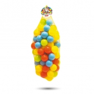 100 barevných plastových míčků v síťce - 6cm