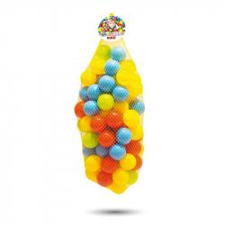 100 farebných plastových loptičiek v sieťke - 6cm
