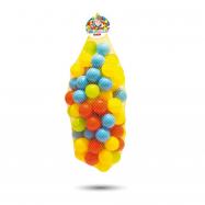 100 barevných plastových míčků v síťce - 7cm
