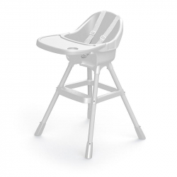 Dětská jídelní židlička bílá