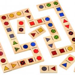 Dřevěné domino Tvary