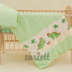 Komplet poszewek na pościel do łóżeczka Smok - zielony