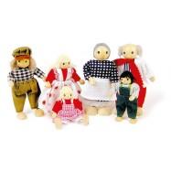 Panenky pro dřevěné domečky Rodinka