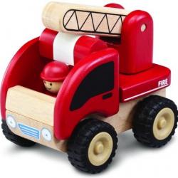 Drevené auto Mini hasiči