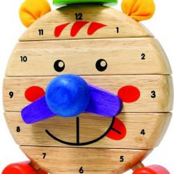 Drevené hodiny Pán Tik Tak
