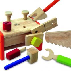 Wonderworld Skrzynka z narzędziami 2w1, dla dzieci, drewniana