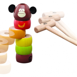 Dřevěná hra Klepni opici