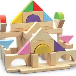 Drevené stavebné kocky 50