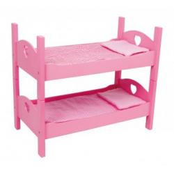 Poschoďová postýlka pro panenky, pink 2871