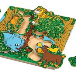 Dřevěné puzzle Píkabú