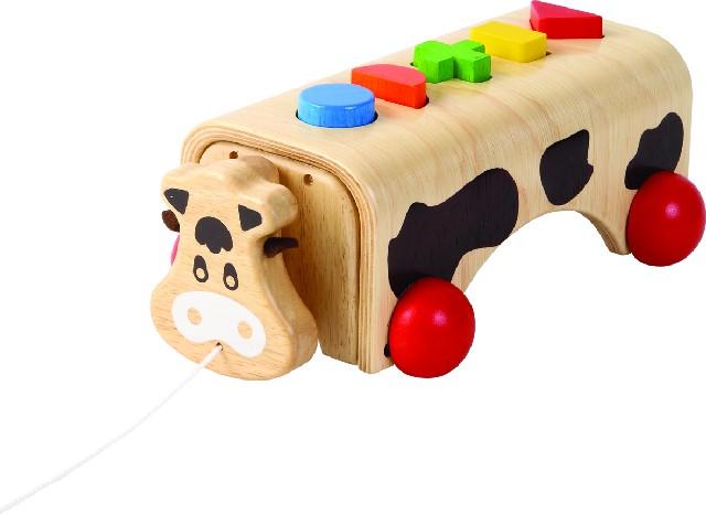 Dřevěná vkládačka na tvary Kráva