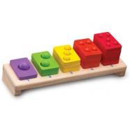 Dřevěná skládačka barevné počty