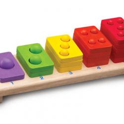 Drevená skladačka farebné počty