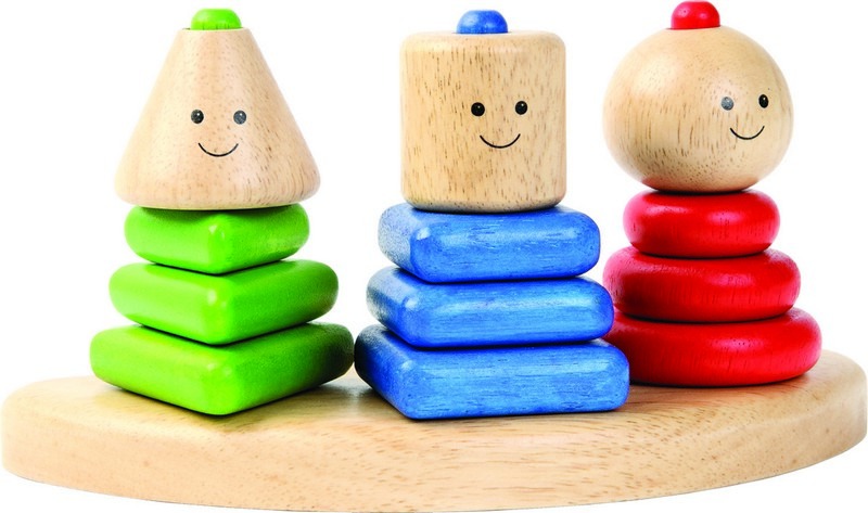 Dřevění nasazovací panáčci TRIO