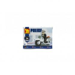 Stavebnice Dromader Policie Motorka 26 ks