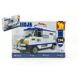 Stavebnice Dromader Policie Auto Dodávka 23405 194 ks