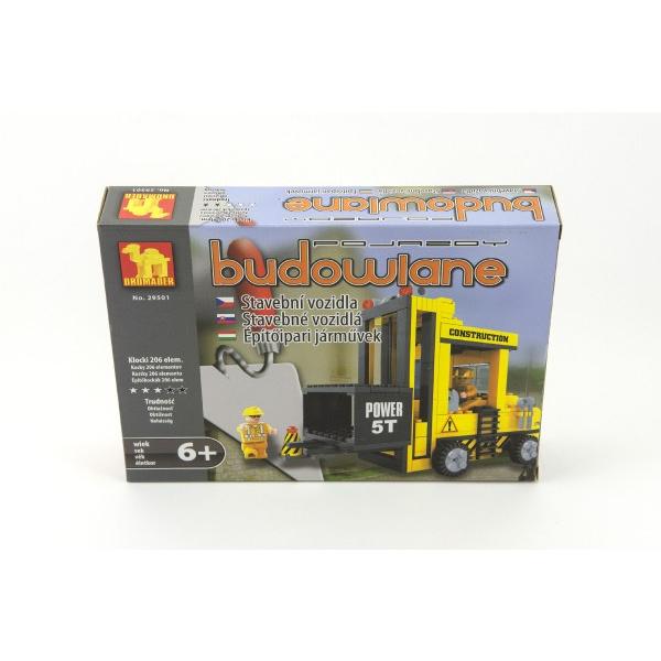 Stavebnica Dromader Auto Vysokozdvižný Vozík 29501 206ks v krabici 25,5x18,5x4,5cm