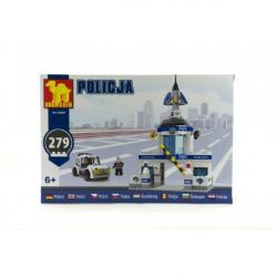 Stavebnice Dromader Policie Stanice + Auto 279 ks