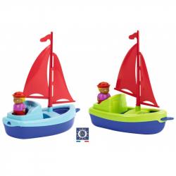 Plachetnica s námorníkom