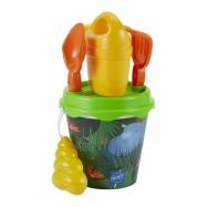 Kyblíček Džungle s konvičkou a příslušenstvím, 17 cm