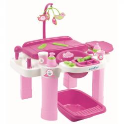 Nursery veľké centrum na prebaľovanie so stoličkou a vaničkou pre bábiky