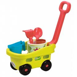 Záhradný vozík s vedierkom a prísl.