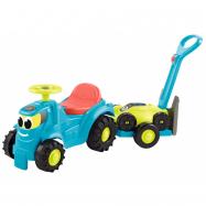 Odrážedlo Traktor s vlekem a sekačkou