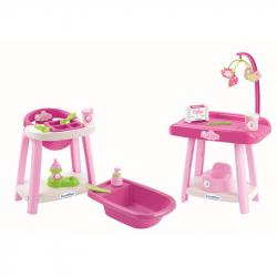 Nursery stolička, vanička a prebaľovací pult pre bábiky