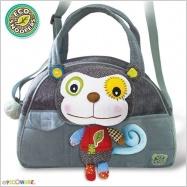 Štýlová detská taška Opička - šedá
