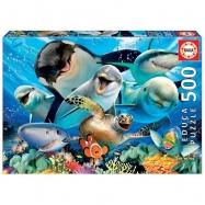 Puzzle 500 dílků - Podmořská selfie