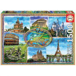 Puzzle 1500 dílků - 7 evropských divů