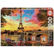 Puzzle 3000 dílků - Západ slunce v Paříži