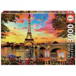 Puzzle 3000 dielikov - Západ slnka v Paríži